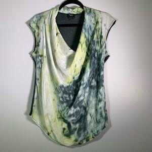 Anthropologie Doletta silk waterfall neck blouse